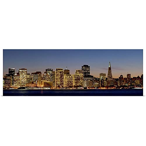 - GREATBIGCANVAS Poster Print Entitled Buildings lit up at Dusk, San Francisco, California, 2010 by 48