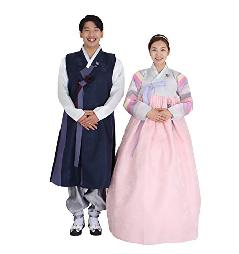Hanbok Korea Traditional Costumes Womens Mens Couple Weddings Birthday Speical Ceremony co100 (55 (S) womens top) by Hanbok store