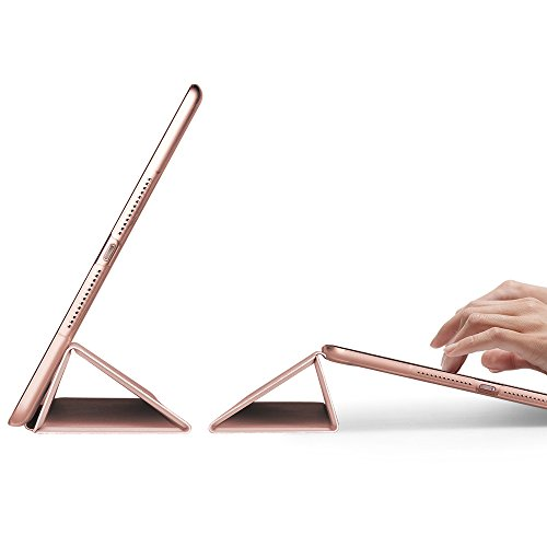 New iPad 9 7 2017 Case ESR Case with Soft TPU Bumper Edge Corner Protection Smart Case Cover Auto Wake Sleep Function for Apple iPad 9 7 inch Rose Gold
