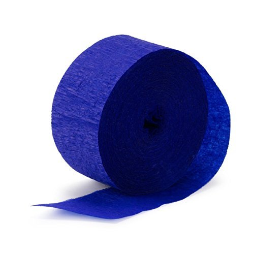(BirthdayExpress Sapphire Blue (Blue) Streamer (1 roll), One)