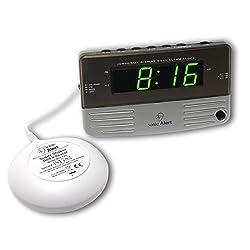 Best Alarm Clock, Sonic Alert Sb200ss Loud Home Bedside Small Digital Alarm Clock