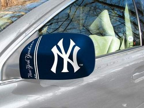 By-Fanmats MLB New York Yankees Side Car Mirror Covers (Set of 2). Fits Most Cars and Small Trucks. Cover for Driver and Passenger Sides.