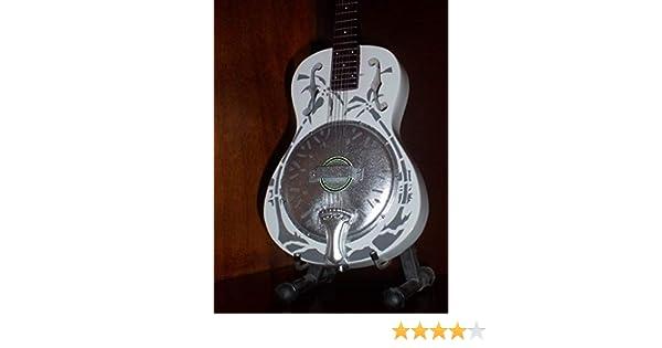Mini guitarra dire Straits Mark Knopfler gráfico regalo: Amazon.es ...