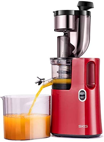SKG A10 Slow Masticating Juicer Wide Chute Cold Press Anti-oxidation BPA Free High Yield Easy to Clean – White
