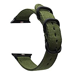 For Apple Watch Band,vicrior 42mm Woven Nylon Nato Iwatch Band Replacement Strap With Adapters For Apple Watch 42mm Series 1 & Series 2,navy Green