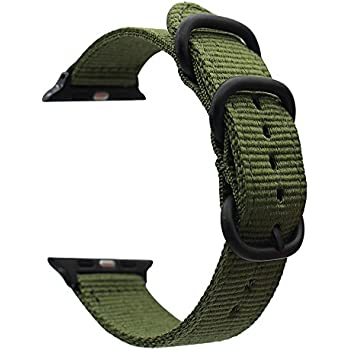 Amazon Monowear Nylon Apple Watch Band with Easy Slide in