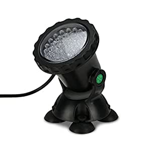 MUCH Underwater Light, Waterproof  IP 68 Submersible  Spotlight with 36-LED Bulbs 3.5W Color Changing Spot Light for Aquarium Garden Pond Pool Tank Fountain Waterfall