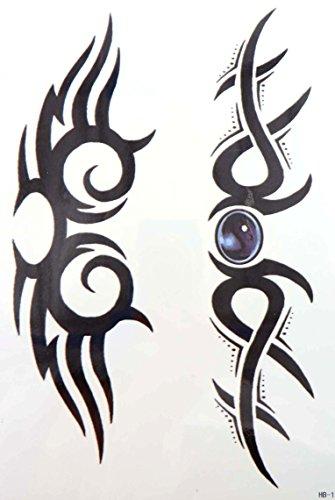 Tribal Lower Back Temporary Tattoo - tribal totem tramp stamp 8.25