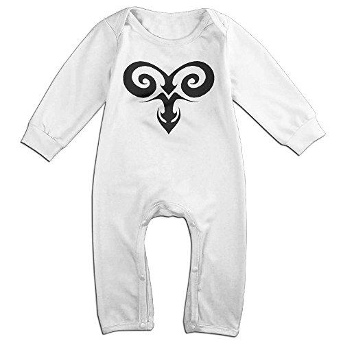 Aries Birth Month Design Zodiac Sign Baby Onesie Romper Jumpsuit Bodysuits