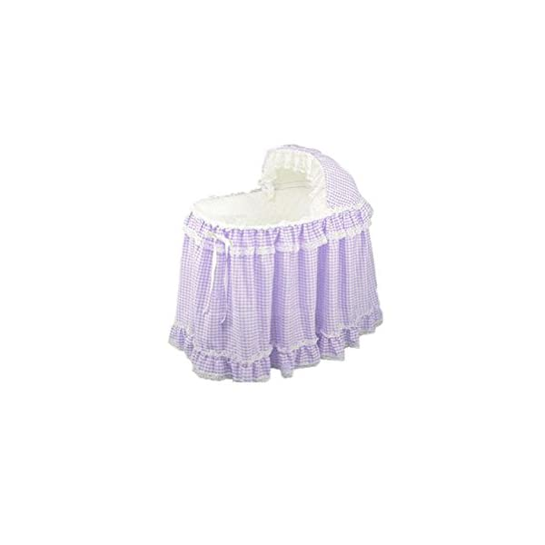 Babydoll Gingham Bassinet Set, Lavender