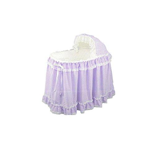 Babydoll Gingham Bassinet Set, Lavender