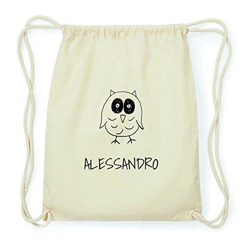 JOllipets ALESSANDRO Hipster Turnbeutel Tasche Rucksack aus Baumwolle Design: Eule IMh7TR