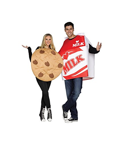Couple Adult Costumes (Milk & Cookies Couples Adult Costume)
