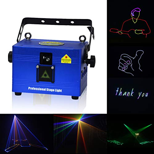 V-Show 1W RGB Animation Laser Lights Show for Party, Dmx Dj Laser Stage Lighting Effect, 16/30CH, Programmable Laser Projector Best For Disco Wedding Family Clubs Xmas RGB Lasers Show