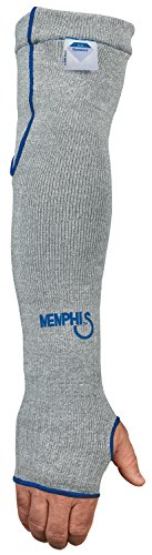 MCR Safety 9318D7T Memphis 7 Gauge Dyneema Sleeve with Thumb-Slot, Gray, 18-Inch ()