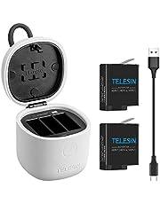 TELESIN allinBox Ladegerät für GoPro Hero 7 Black/Hero 2018/Hero 6/5 Multifunktions-Akku, USB-Ladegerät mit 3 Kanälen, Ladegerät, SD-Kartenleser, für GoPro Hero 7 Black/Hero 2018/Hero 6/5