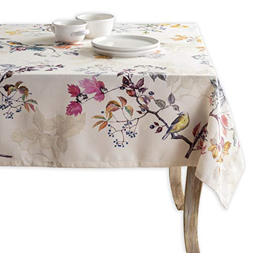 Maison d' Hermine Equinoxe 100% Cotton Beige Tablecloth 54 Inch by 54 Inch.