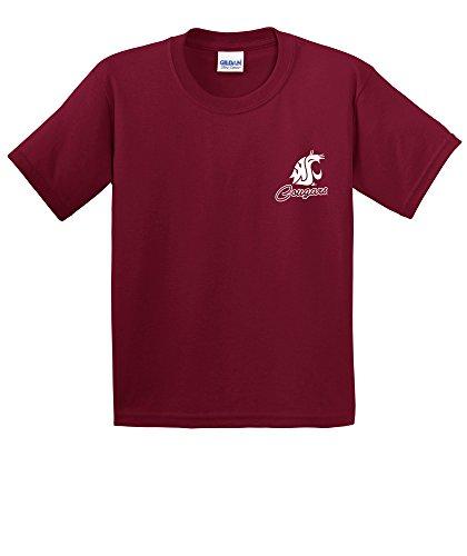 NCAA Washington State Cougars Youth Cheer Loud Short Sleeve Cotton T-Shirt, Medium,Cardinal