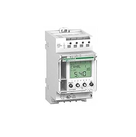 Merlin Gerin 15353 - Multi 9 Interruptor horario programable IHP 2 C 24H/7J - 10 A 22 pas: Amazon.es: Iluminación