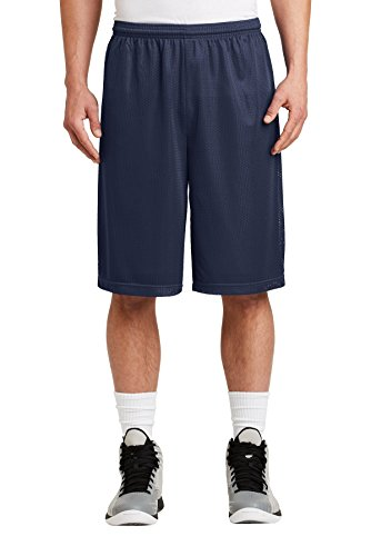 Sport-Tek Men's Extra Long PosiCharge Classic Mesh Short XL True Navy