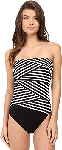 Miraclesuit Women's New Directions Muse One-Piece Black/White Swimsuit 12