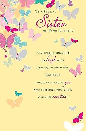 Tarjeta de cumpleaños para hermana especial: Amazon.es ...