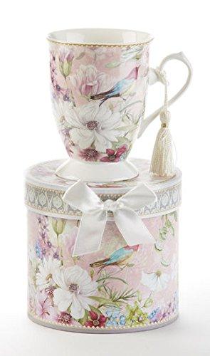 Porcelain Tea / Coffee Mug in Gift Box Daisy Bird