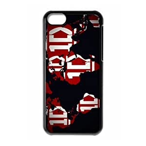 Band One Direction 1D on World Map Custom Design Apple Iphone 5c Hard Case Cover phone Cases Covers