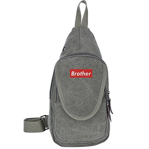 Price comparison product image Brother Exclusive Canvas Sling Bag Sport Outdoor Bike Chest Shoulder Pack Unbalance Crossbody Bag Travel Daypack For Adult