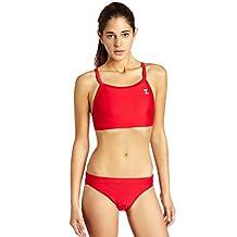 TYR Sport Women's Solid Diamondback Workout Bikini Swim Suit