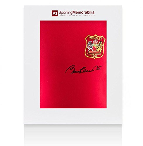 Sir Bobby Charlton Signed Manchester United Shirt 1963 FA Cup - Gift Box - Autographed Soccer Jerseys