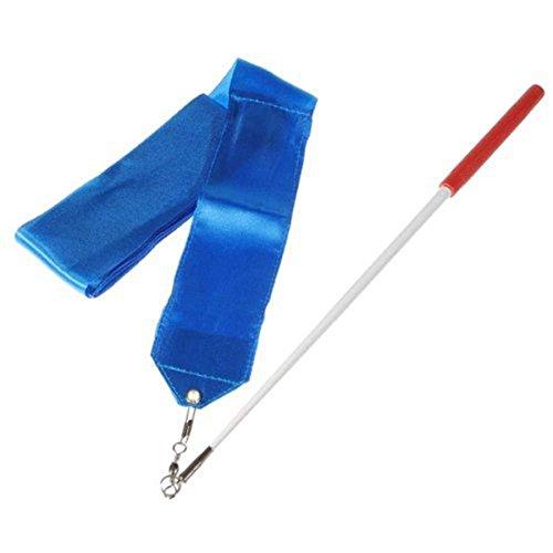 Dance Ribbon 1PCS 4m Twirling Ishua Rhythmic Streamer Rod Gym Blue Colors Art Ribbon Baton Gymnastic 8 Stick Dance Gym fEqqd8wW