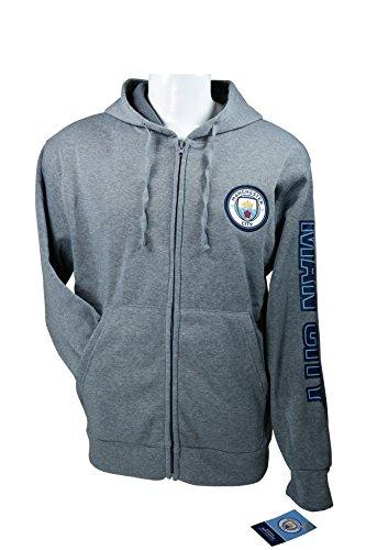 Zipper Front Fleece Jacket Sweatshirt Official License Soccer Hoodie Ex-Large 011 (Embroidered Soccer Sweatshirt)