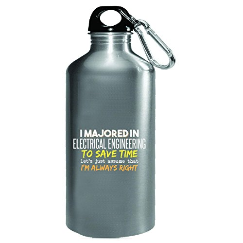 Majored In Electrical Engineering School Grad Major Graduation Gift - Water Bottle by My Family Tee