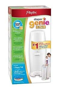 Playtex Diaper Genie Elite Diaper Disposal Pail, White (Discontinued by Manufacturer)
