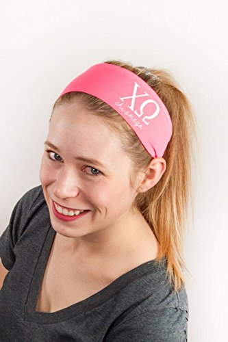 Head Mondo (Chi Omega Letters Headband by Go Greek Chic | Sorority Accessories and Gifts)