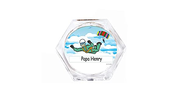 Amazon.com | Personalized Skydiving Male Drink Coaster ...
