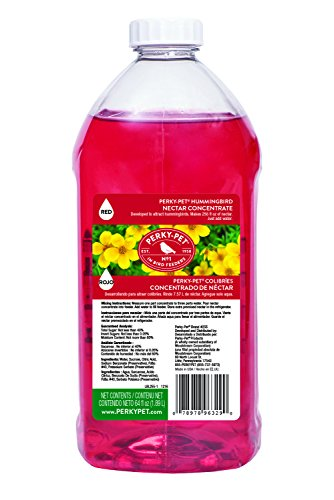 Perky-Pet 255 Hummingbird Nectar Concentrate, 64 oz, Red