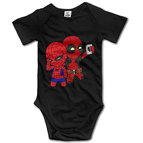 [Little Spiderman Take A Photo Baby Onesie Baby Clothes] (Spiderman Bodysuit)