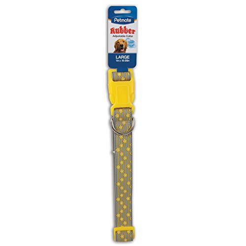 Aspen Pet Products Petmate Rubber FLWR Collar, Yellow, 1