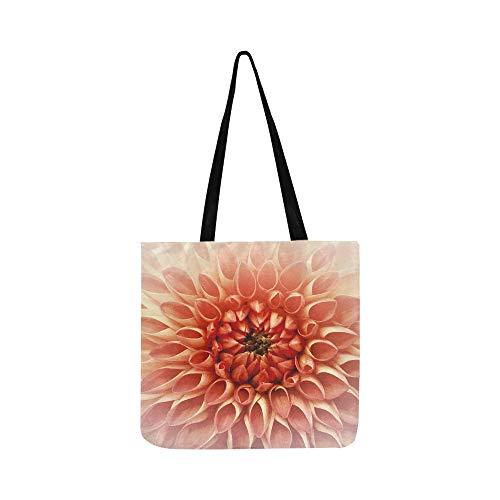 (Dahlia Flower Joy Nature Luck Decoration Mural Canvas Tote Handbag Shoulder Bag Crossbody Bags Purses For Men And Women Shopping)