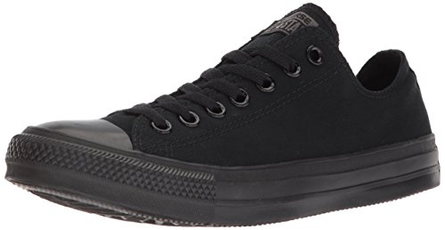 Converse Chuck Taylor All Star Canvas Low Top Sneaker,Black Monochrome,10.5 US Men/12.5 US Women