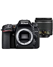 Nikon D7500 Digital SLR Camera with AFP VR Lens, Black, 18-55mm