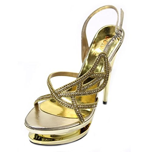 Walk amp; Or femme Wear UK pour doré Sandales 5OYdwqv