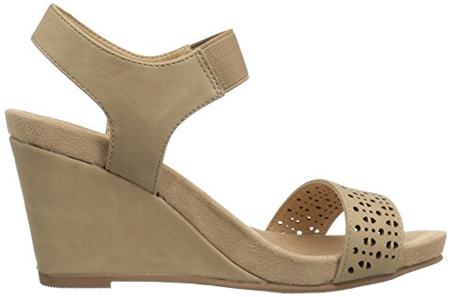 Tatum by Wedge Laundry Chinese Nude Women CL Sandal Gore w7CqadIn