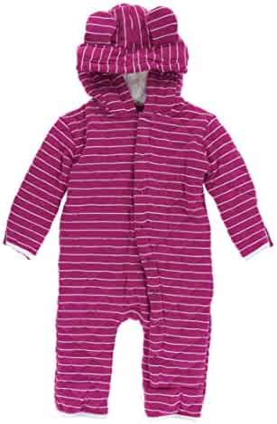 066a71292 KicKee Pants Print Quilted Hoodie Coverall with Sherpa-Lined Hood in Tokyo  Dragonfruit Stripe/