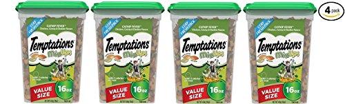 Temptations Mixups Catnip Fever Flavor Cat Treats, 16 Oz (Value size) - Pack of 4 by Temptations