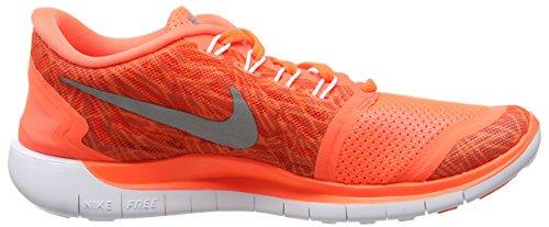 Nike Damen Free 5.0 Print Laufschuhe Orange (Hyper Orange/Black-Sail-White 800)