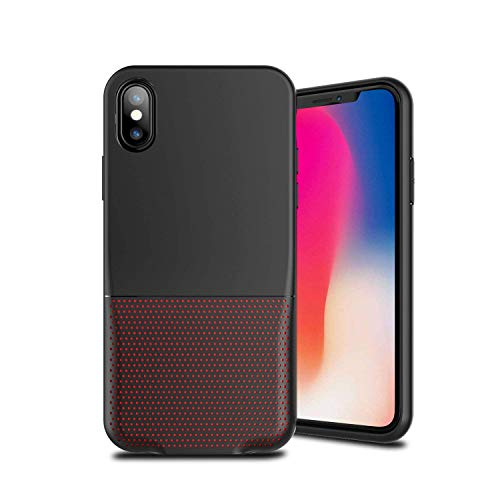 Cocomii Duo Lightning Audio S Armor iPhone XR Case New [Dual Lightning Jack Adapter Case] Call+Audio+Charger Cover [No Dongles/Cables] Charge and Listen to Music for iPhone XR (Duo.Black Red)