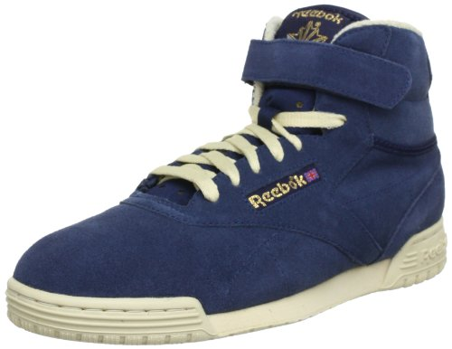 Reebok EX-O-FIT CLEAN HI VINTAGE, Sneaker a collo alto uomo Blu (Blau (Athletic Navy/Bone/ Reebok Brass))